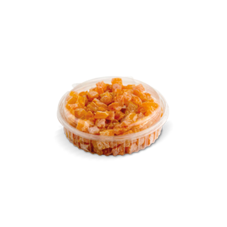 Diced Dried Fruits PET- Round with Lid 200/ 250 g - Usta Food Industry Agricultural