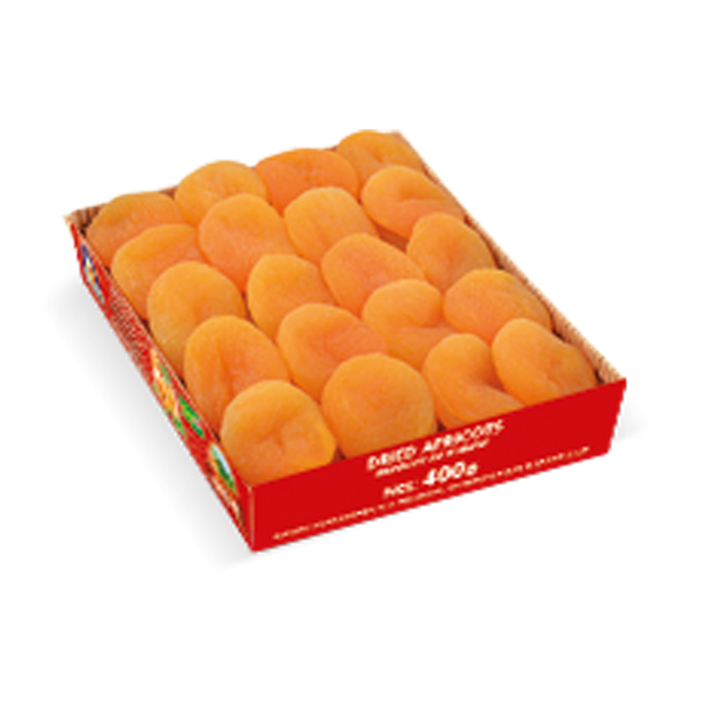 Dried Apricots Carton Trays 400 g - Usta Food Industry Agricultural