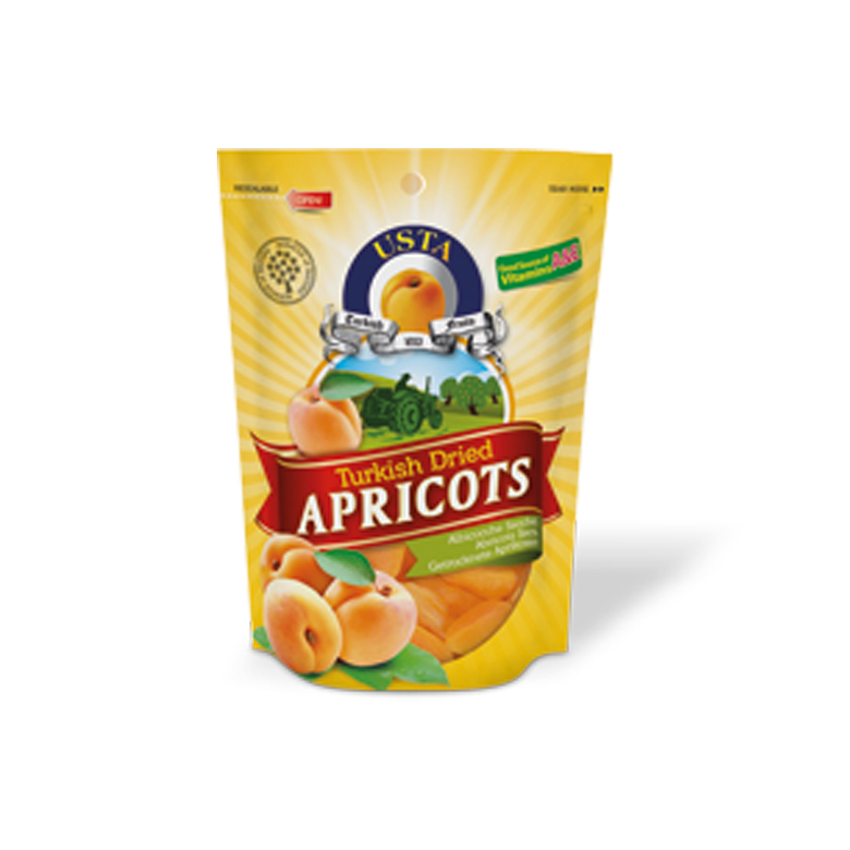 Dried Apricots Doypack Cellobags 500 g - Usta Food Industry Agricultural