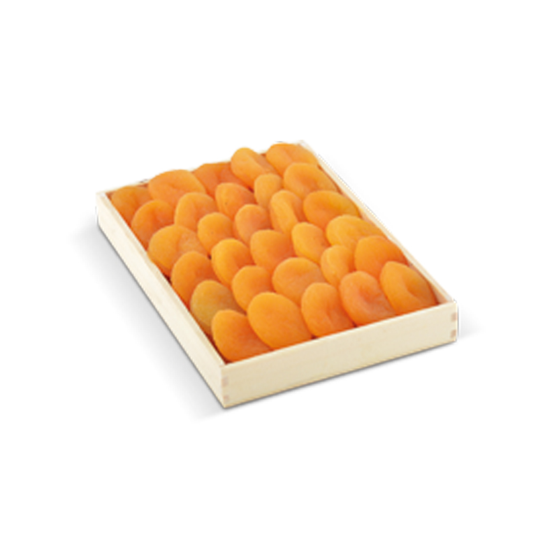 Dried Apricots Wooden Tray 400 g - Usta Food Industry Agricultural